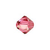 Swarovski Bicone 5301 6mm Indian Pink