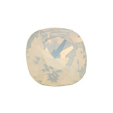 Swarovski puntsteen 4470 Square 10mm White Opal