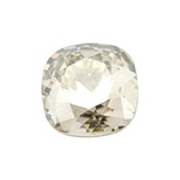 Swarovski puntsteen 4470 Square 10mm Crystal Silver Shade