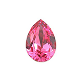 Swarovski puntsteen 4320 Drop 14x10mm Roze
