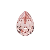 Swarovski puntsteen 4320 Drop 14x10mm Vintage Rose