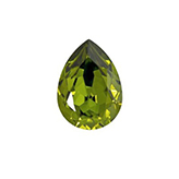 Swarovski puntsteen 4320 Drop 14x10mm Olivine
