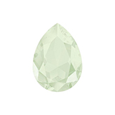 Swarovski puntsteen 4320 Drop 14x10mm Crystal Powder Green