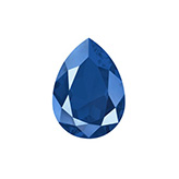 Swarovski puntsteen 4320 Drop 14x10mm Crystal Royal Blue