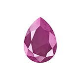 Swarovski puntsteen 4320 Drop 14x10mm Crystal Peony Pink