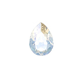 Swarovski puntsteen 4320 Drop 8x6mm Crystal Moonlight