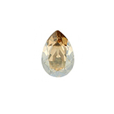 Swarovski puntsteen 4320 Drop 8x6mm Crystal Golden Shadow
