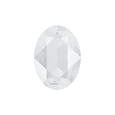 Swarovski puntsteen 4120 Oval 14x10mm Crystal Powder Grey