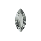 Swarovski puntsteen 4228 Navette 10x5mm Black Diamond