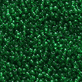 Toho Round Seed Beads #7B 11/0 transparent grass green TR-11-7B