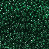 Toho Round Seed Beads #939 11/0 transparent green emerald TR-11-939