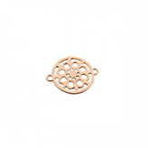 Tussenzetsel filigrain 13mm rose gold