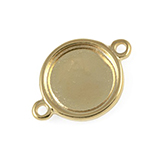 DQ Tussenzetsel cameo setting 20mm goud voor polaris cabochon
