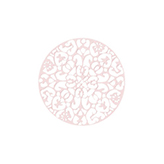 Bohemian tussenstuk rond 40mm Light rose