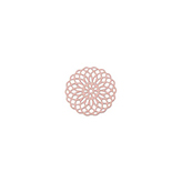 Bohemian tussenstuk rond 15mm Light rose